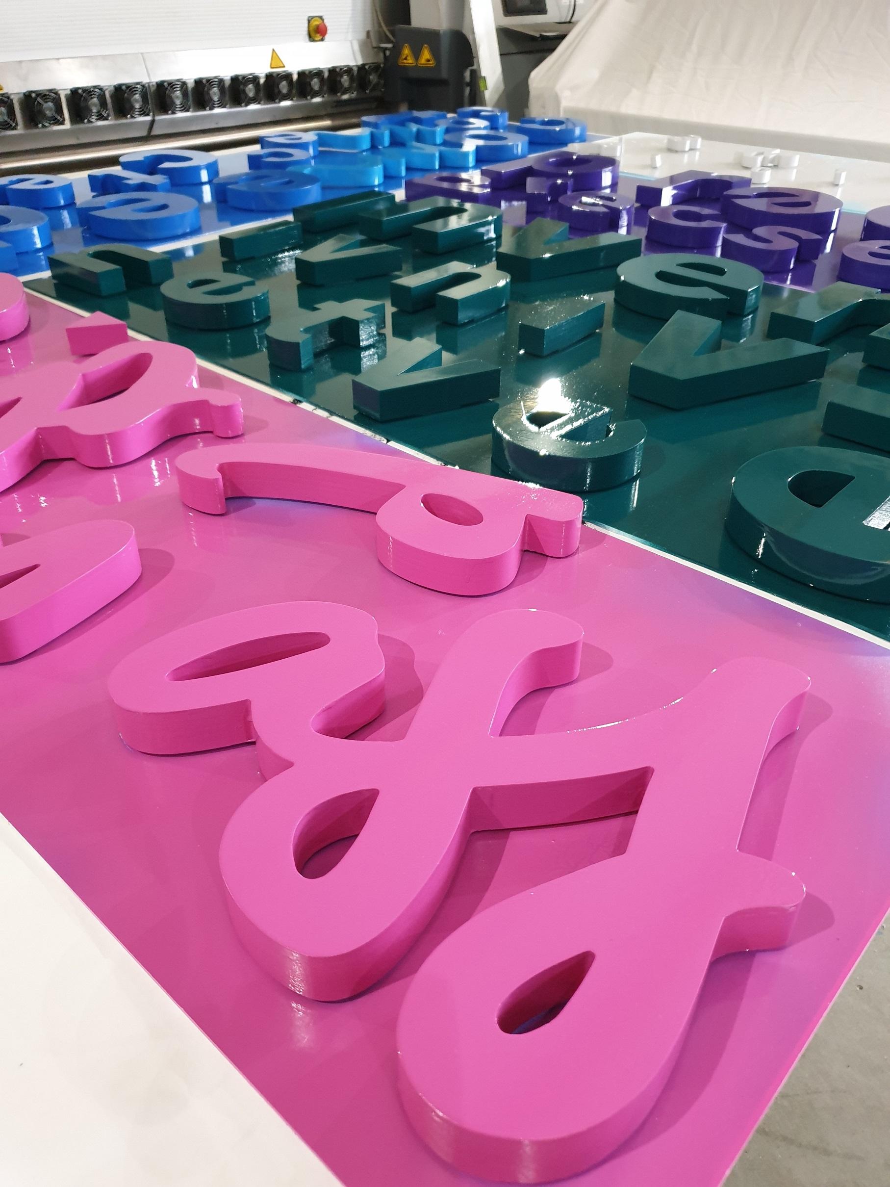 Lettres en volume 3D