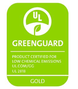 logo greenguard gold imprimante HP latex 570 Atelier comm'unique impression numérique écologique Auvergne Puy-de Dôme 63 Allier 03 Creuse 23