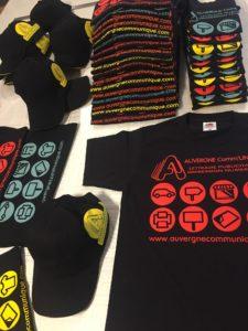 textile sweat shirt casquette publicité communication Auvergne