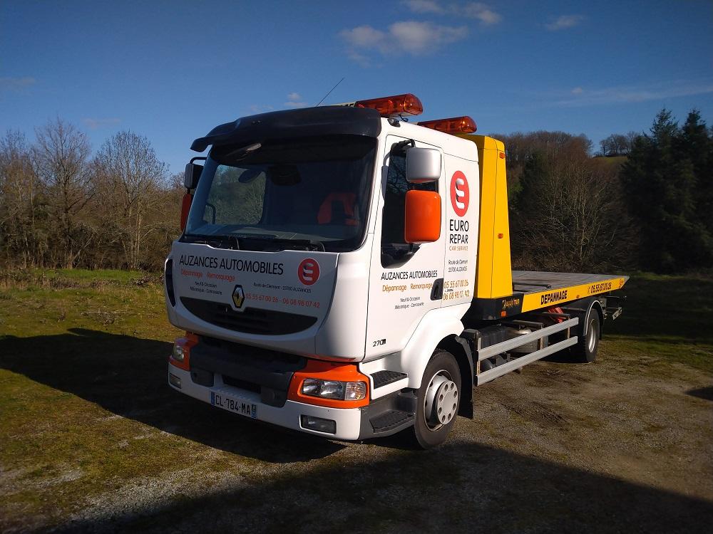 véhicule covering camion dépanneuse Auzances Automobiles Euro Repar garage publicité communication 23 Creuse