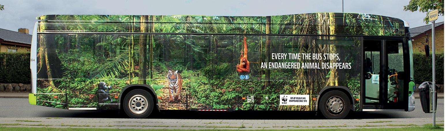WWF prend l'autobus pour défendre la faune sauvage